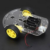 Smart car chassis tracing car with belt encoder battery holder