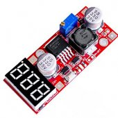 DC-DC adjustable power supply module, LM2596 voltage regulator module, with the voltmeter display
