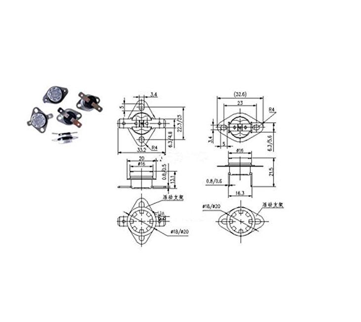 ksd301 250v 10a 80degree thermal control  28102